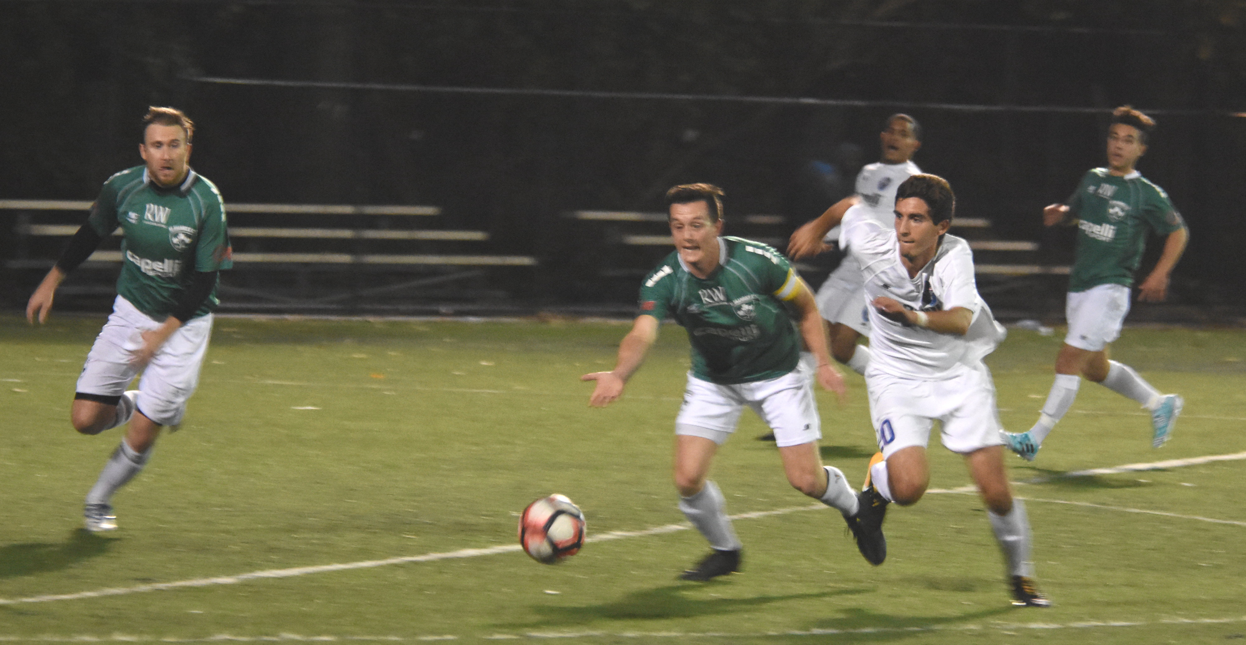 NY Greeks force a 1-1 draw out of Shamrocks without key players