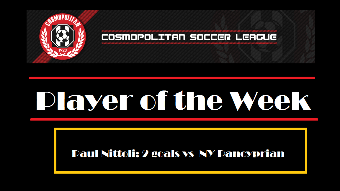 DIVISION 1: Nittoli wins Week 2 Player of the Week